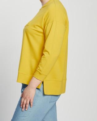 Love Your Wardrobe Lyw & Co Embossed Sweat - Sweats (Gold)