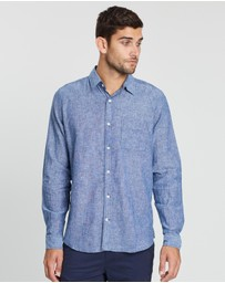 Gap - Linen Cotton Long Sleeve Shirt