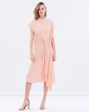 Bianca Spender – Double Georgette Victory Dress – Bridesmaid Dresses Pink