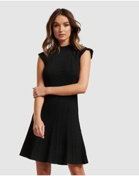 Forever New - Ebony A-line Pointelle Knit Dress
