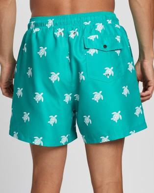 Buba & La Turtle Swim Shorts - Swimwear (Green)