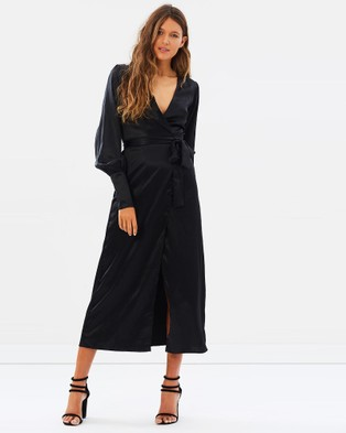 Isabelle Quinn – Elsa Wrap Dress Black