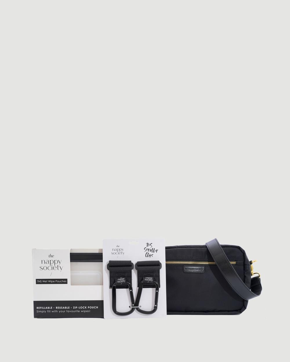 The Nappy Society Cross Body Bag Bundle Bags Black