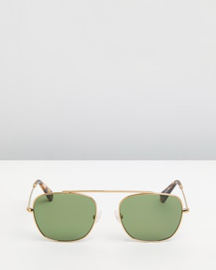 Pacifico Optical South 2 - Square (Vintage Gold with Green Lens)