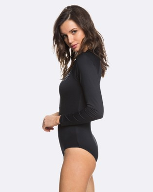 Roxy Womens Essentials Long Sleeve Zipped UPF 50 Onesie - One-Piece / Swimsuit (Anthracite)
