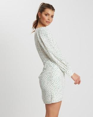 Savel Arielle Mini Dress - Printed Dresses (Green Spot)