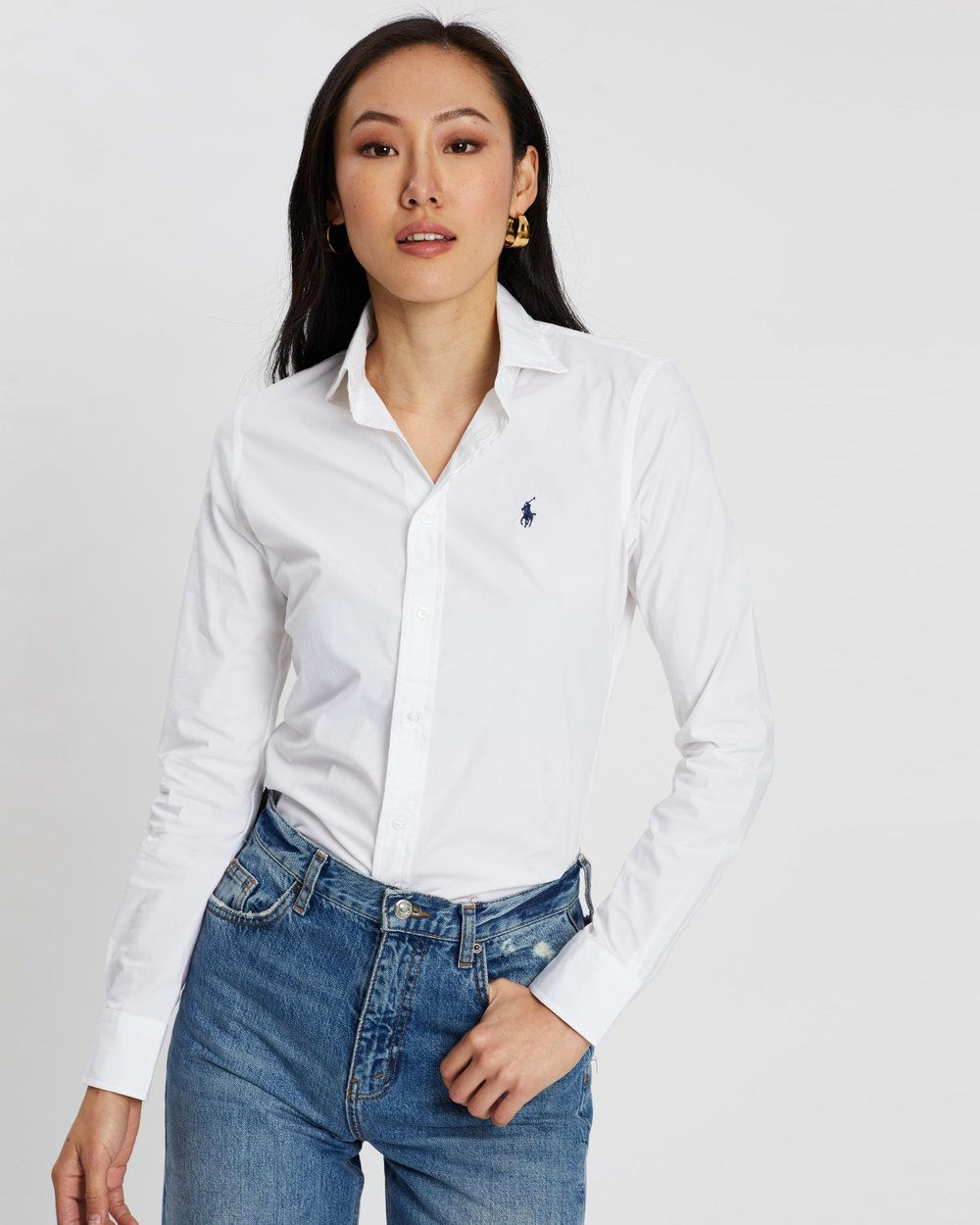 Kendall Slim-Fit Poplin Shirt by Polo Ralph Lauren Online  a2ba9c260c