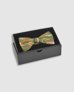 Peggy and Finn Grass Tree Bow Tie - Ties & Cufflinks (Sage)