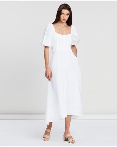 Bec + Bridge Evelyn Midi Dress Ivory