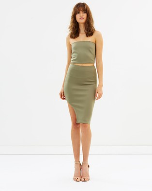 Maurie & Eve – What She's Having Dress – Bodycon Dresses (Khaki)