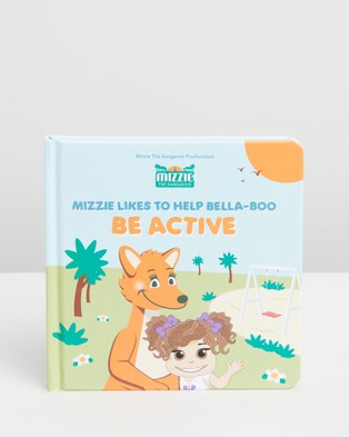 Australia Mizzie The Kangaroo - Baby Board Book Gift Set with Teething Toy All toys (Be Active)