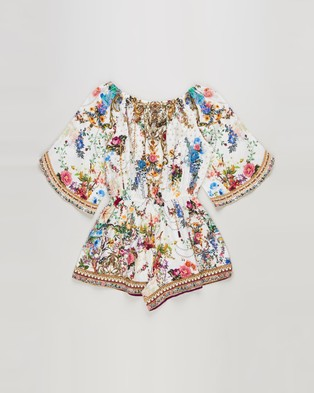 Camilla By The Meadow 3 4 Flare Sleeve Playsuit   Kids - Jumpsuits & Playsuits (By the Meadow)