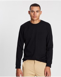 Topman - Long Sleeve Pocket T-Shirt