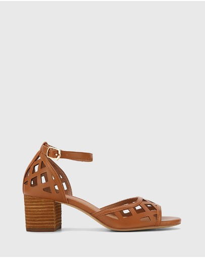 Wittner - Imani Leather Block Heel Sandals