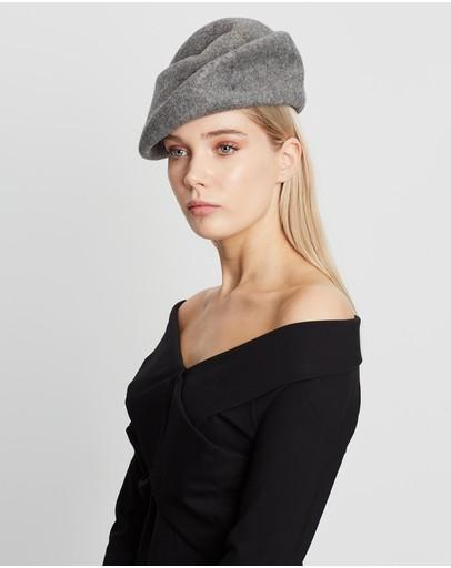 Max Alexander Winter Felt Designer Hat Grey Marle