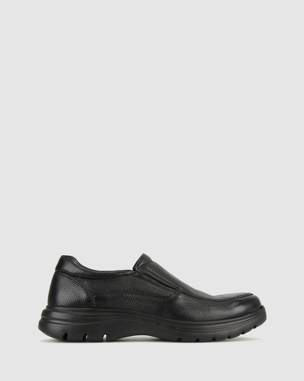 Airflex Steven Leather Loafers Flats Black