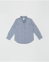 GapKids - Long Sleeve Gingham Poplin Shirt - Teens