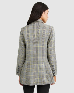 Belle & Bloom Too Cool For Work Plaid Blazer - Suits & Blazers (Grey)