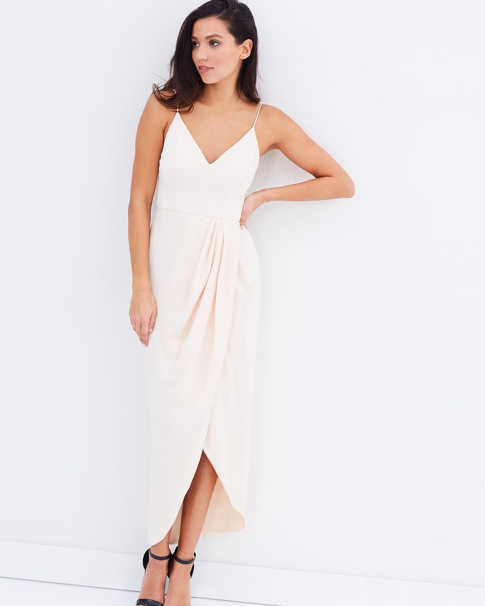 Shona Joy Core Cocktail Dress Dresses Nude Core Cocktail Dress