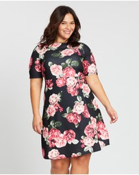 DP Curve - Occasion Scuba Floral Dress