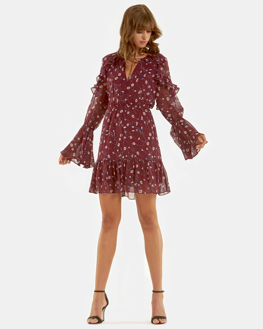 Amelius Addison Print Dress Printed Dresses Wine Print Addison Print Dress