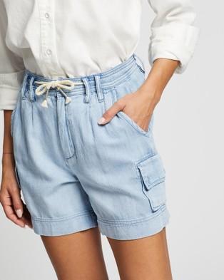 DRICOPER DENIM Tomcat Shorts - High-Waisted (Drain Blue )