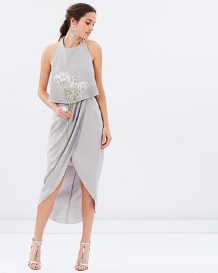Atmos & Here – Allie Midi Dress – Bridesmaid Dresses Earl Grey