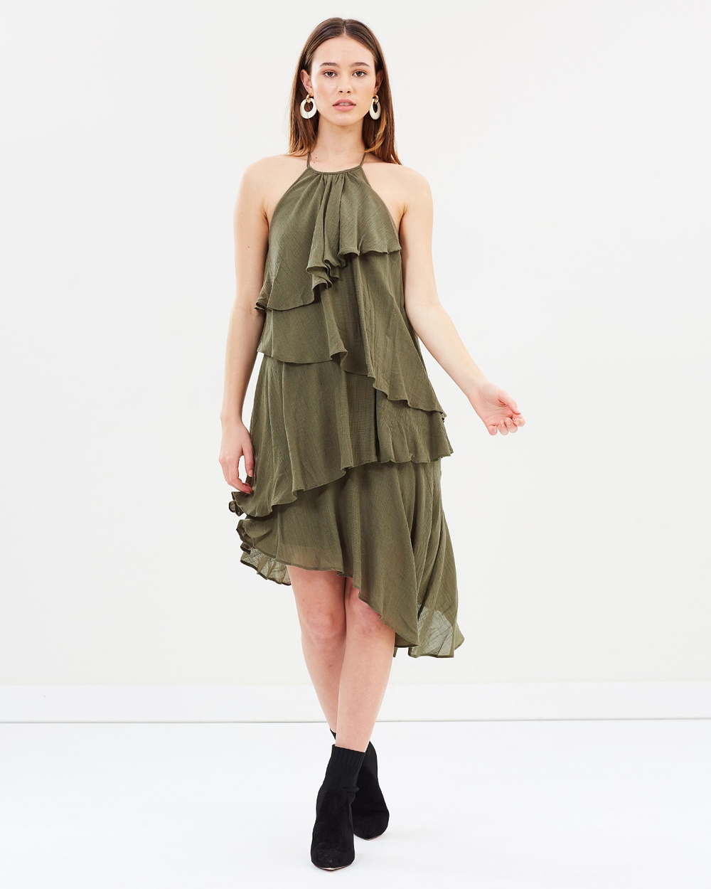 Vero Moda Felice Sleeveless Low Back Dress Dresses Ivy Green Felice Sleeveless Low Back Dress