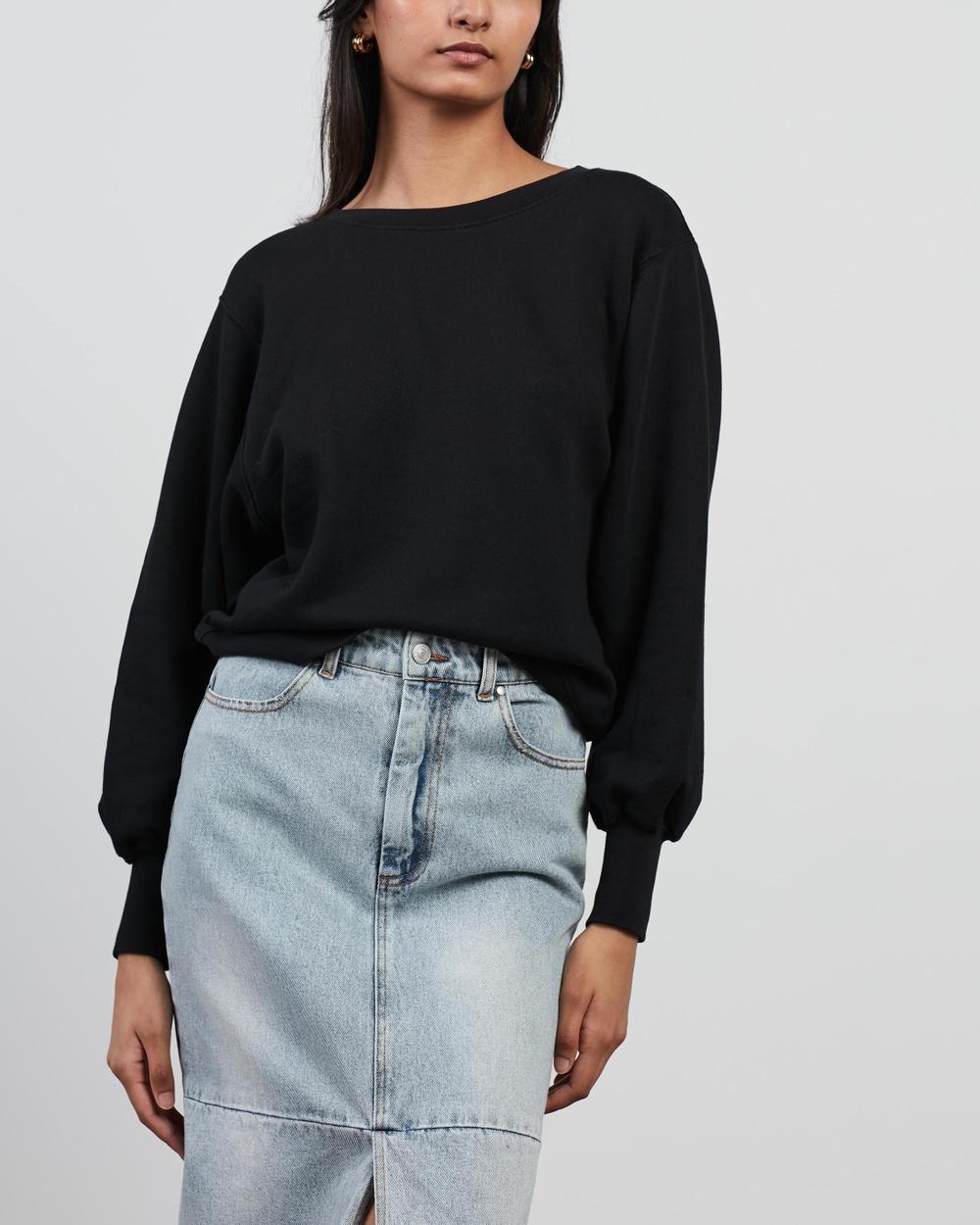 American Vintage Fobye Sweatshirt Jumpers & Cardigans Vintage Black