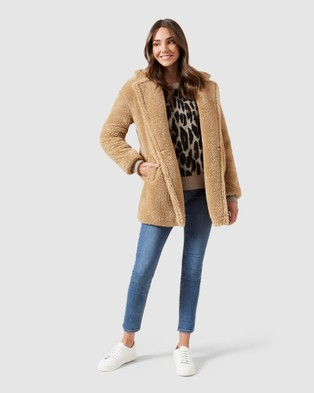 French Connection Teddy Coat - Coats & Jackets (CAMEL)