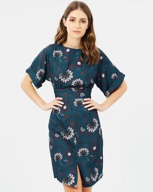 Closet London – Kimono Wiggle Dress Multi