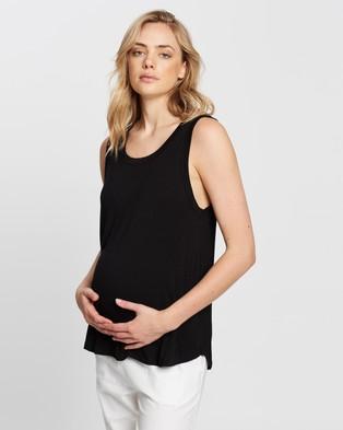 Cotton On Maternity 3 Pack Maternity Everyday Girlfriend Tank - T-Shirts & Singlets (Black)