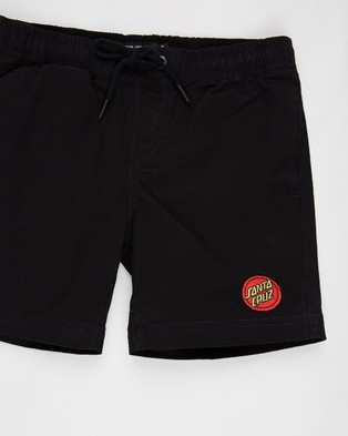 Santa Cruz Heat Seeker Shorts   Teens - Shorts (Black)