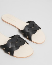 Atmos&Here - Isla Leather Slides