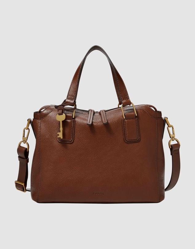 Women Jacqueline Brown Satchel Bag