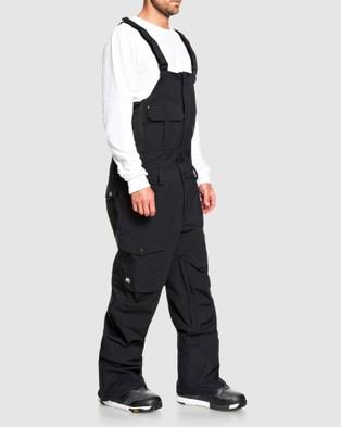 Quiksilver Mens Utility Snow Bib Pant - Pants (True Black)