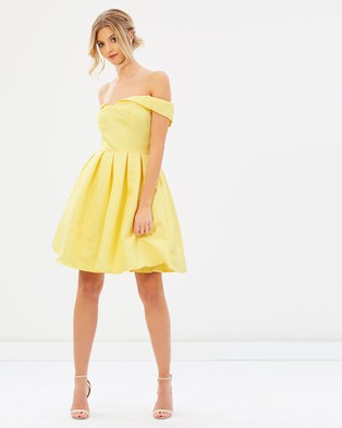 Chi Chi London – Amal Dress – Bridesmaid Dresses Yellow