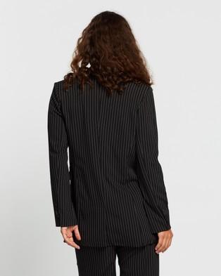 Dazie Girl Interrupted Blazer - Blazers (Pin Stripe)