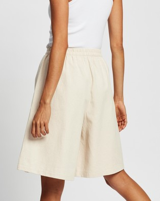 AERE Longline Shorts - High-Waisted (Neutral)