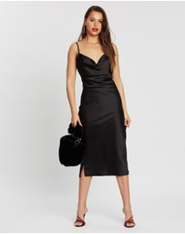 Missguided - Satin Cowl Neck Midi Dress