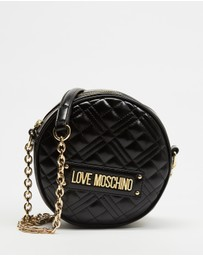 LOVE MOSCHINO - Quilted Mini Round Cross-Body Bag