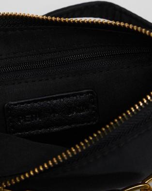 PETA AND JAIN Portia Mini Shoulder Bag - Handbags (Black Nylon)
