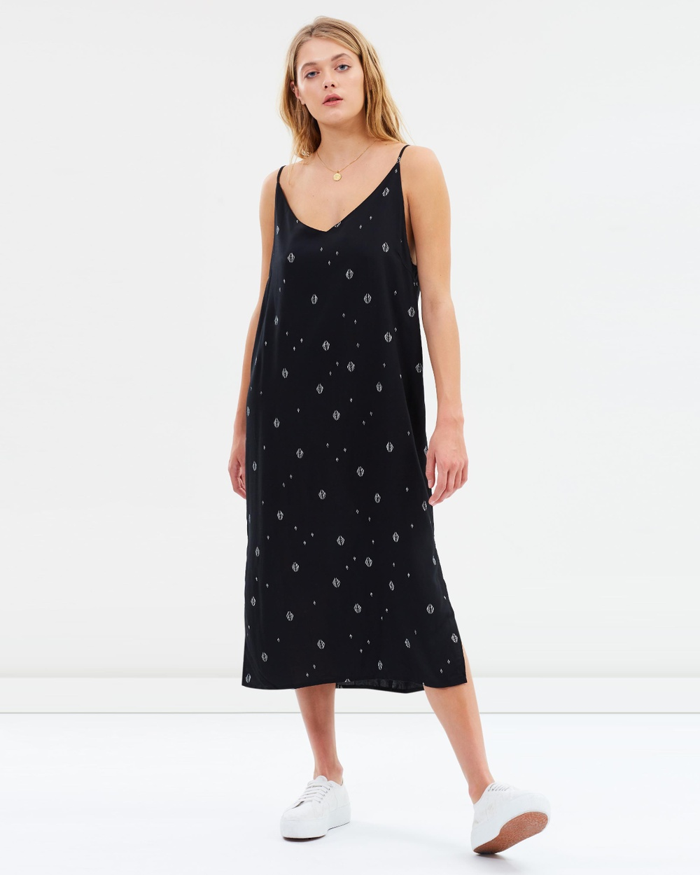 Jorge Print Siren Slip Dress