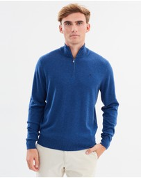 Hackett - Cotton Silk Half Zip Jumper