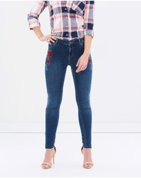 Dorothy Perkins - Rose Embroidered Darcy Jeans