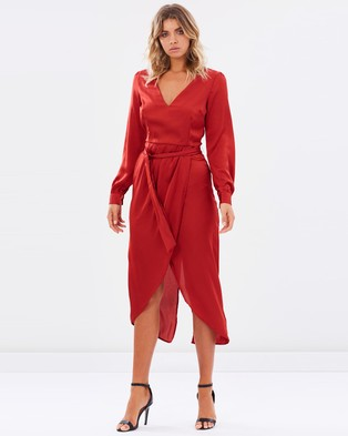 Atmos & Here – Manhattan Wrap Dress – Dresses (Red)