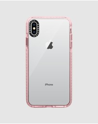Casetify - Impact Protective Clear Case for iPhone XS Max – Pink
