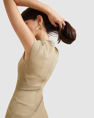 SABA Amara Milano Otto Dress - Dresses (Soft Khaki)