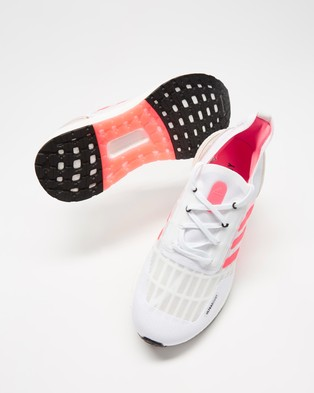 adidas Performance - Ultraboost SUMMER.RDY   Women's - Performance Shoes (Footwear White, Signal Pink & Core Black) Ultraboost SUMMER.RDY - Women's