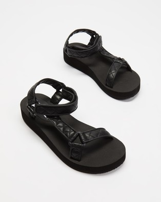 Steve Madden Henley Sandals Black